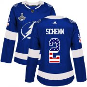 Cheap Adidas Lightning #2 Luke Schenn Blue Home Authentic USA Flag Women's 2020 Stanley Cup Champions Stitched NHL Jersey