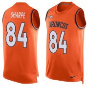 Wholesale Cheap Nike Broncos #84 Shannon Sharpe Orange Team Color Men's Stitched NFL Limited Tank Top Jersey