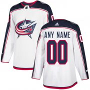 Wholesale Cheap Men's Adidas Blue Jackets Personalized Authentic White Road NHL Jersey