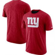 Wholesale Cheap Men's New York Giants Nike Red Sideline Cotton Slub Performance T-Shirt