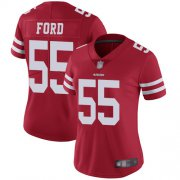 Wholesale Cheap Nike 49ers #55 Dee Ford Red Team Color Women's Stitched NFL Vapor Untouchable Limited Jersey