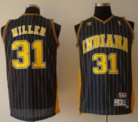 Wholesale Cheap Indiana Pacers #31 Reggie Miller Navy Blue Pinstirpe Swingman Throwback Jersey