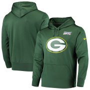 Wholesale Cheap Green Bay Packers Nike 100th Season Primary Logo Circuit Performance Pullover Hoodie Green