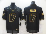 Wholesale Cheap Men's Buffalo Bills #17 Josh Allen Black Gold 2020 Salute To Service Stitched NFL Nike Limited Jersey