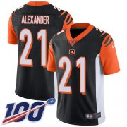 Wholesale Cheap Nike Bengals #21 Mackensie Alexander Black Team Color Youth Stitched NFL 100th Season Vapor Untouchable Limited Jersey