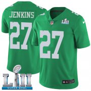 Wholesale Cheap Nike Eagles #27 Malcolm Jenkins Green Super Bowl LII Men's Stitched NFL Limited Rush Jersey