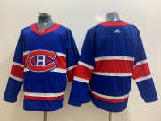Wholesale Cheap Men's Montreal Canadiens Blank Blue Adidas 2020-21 Alternate Authentic Player NHL Jersey