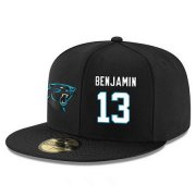 Wholesale Cheap Carolina Panthers #13 Kelvin Benjamin Snapback Cap NFL Player Black with White Number Stitched Hat