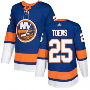 Wholesale Cheap Adidas Islanders #25 Devon Toews Royal Blue Home Authentic Stitched NHL Jersey