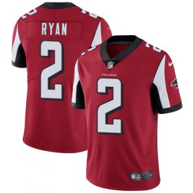 Wholesale Cheap Nike Falcons #2 Matt Ryan Red Team Color Men\'s Stitched NFL Vapor Untouchable Limited Jersey