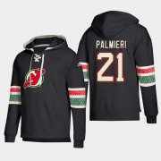 Wholesale Cheap New Jersey Devils #21 Kyle Palmieri Black adidas Lace-Up Pullover Hoodie