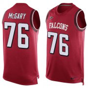 Wholesale Cheap Nike Falcons #76 Kaleb McGary Red Team Color Men's Stitched NFL Limited Tank Top Jersey