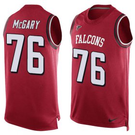 Wholesale Cheap Nike Falcons #76 Kaleb McGary Red Team Color Men\'s Stitched NFL Limited Tank Top Jersey
