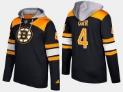 Wholesale Cheap Bruins #4 Bobby Orr Black Name And Number Hoodie