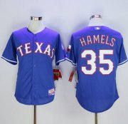 Wholesale Cheap Rangers #35 Cole Hamels Blue Cool Base Stitched MLB Jersey