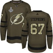 Cheap Adidas Lightning #67 Mitchell Stephens Green Salute to Service Youth 2020 Stanley Cup Champions Stitched NHL Jersey