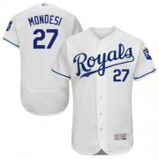 Wholesale Cheap Royals #27 Raul Mondesi White Flexbase Authentic Collection Stitched MLB Jersey