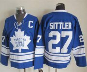 Wholesale Cheap Maple Leafs #27 Darryl Sittler Blue CCM Throwback Third Stitched NHL Jersey