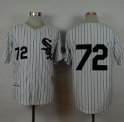 Wholesale Cheap Mitchell And Ness 1993 White Sox #72 Carlton Fisk White Stitched MLB Jersey