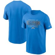 Wholesale Cheap Los Angeles Chargers Nike Team Property Of Essential T-Shirt Powder Blue