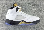 Wholesale Cheap Air Jordan 5 Olympic White/Metallic Gold-Black