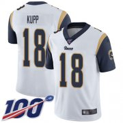 Wholesale Cheap Nike Rams #18 Cooper Kupp White Men's Stitched NFL 100th Season Vapor Limited Jersey