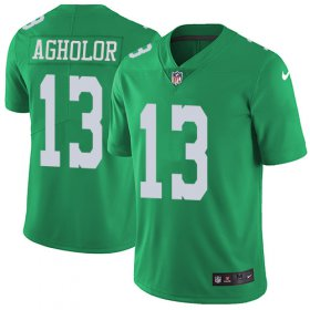 Wholesale Cheap Nike Eagles #13 Nelson Agholor Green Men\'s Stitched NFL Limited Rush Jersey