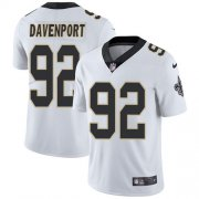 Wholesale Cheap Nike Saints #92 Marcus Davenport White Men's Stitched NFL Vapor Untouchable Limited Jersey