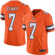 Wholesale Cheap Nike Broncos #7 John Elway Orange Youth Stitched NFL Limited Rush Jersey