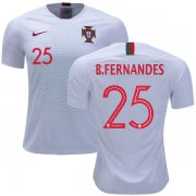 Wholesale Cheap Portugal #25 B.Fernandes Away Soccer Country Jersey