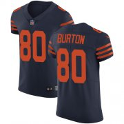 Wholesale Cheap Nike Bears #80 Trey Burton Navy Blue Alternate Men's Stitched NFL Vapor Untouchable Elite Jersey