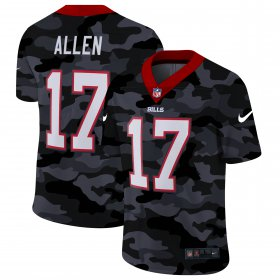 Cheap Buffalo Bills #17 Josh Allen Men\'s Nike 2020 Black CAMO Vapor Untouchable Limited Stitched NFL Jersey