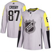 Wholesale Cheap Adidas Penguins #87 Sidney Crosby Gray 2018 All-Star Metro Division Authentic Stitched Youth NHL Jersey