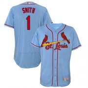 Wholesale Cheap Cardinals #1 Ozzie Smith Light Blue Flexbase Authentic Collection Stitched MLB Jersey