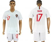 Wholesale Cheap Portugal #17 Nani Away Soccer Country Jersey