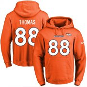 Wholesale Cheap Nike Broncos #88 Demaryius Thomas Orange Name & Number Pullover NFL Hoodie