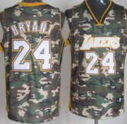 Wholesale Cheap Los Angeles Lakers #24 Kobe Bryant Camo Fashion Jersey