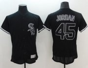 Wholesale Cheap White Sox #45 Michael Jordan Black Fashion Flexbase Authentic Collection Stitched MLB Jersey