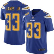 Wholesale Cheap Nike Chargers #33 Derwin James Jr Electric Blue Men's Stitched NFL Limited Rush Jersey