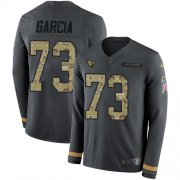 Wholesale Cheap Nike Cardinals #73 Max Garcia Anthracite Salute to Service Men's Stitched NFL Limited Therma Long Sleeve Jersey