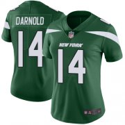 Wholesale Cheap Nike Jets #14 Sam Darnold Green Team Color Women's Stitched NFL Vapor Untouchable Limited Jersey