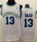 Wholesale Cheap Dallas Mavericks #13 Steve Nash White Swingman Throwback Jersey