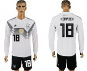 Wholesale Cheap Germany #18 Kimmich White Home Long Sleeves Soccer Country Jersey