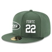 Wholesale Cheap New York Jets #22 Matt Forte Snapback Cap NFL Player Green with White Number Stitched Hat
