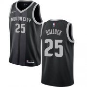 Wholesale Cheap Nike Pistons #25 Reggie Bullock Black NBA Swingman City Edition Jersey