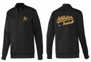 Wholesale Cheap MLB Oakland Athletics Zip Jacket Black_1