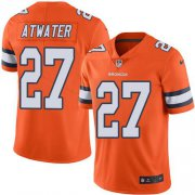 Wholesale Cheap Nike Broncos #27 Steve Atwater Orange Youth Stitched NFL Limited Rush Jersey