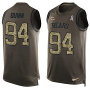 Wholesale Cheap Nike Bears #94 Robert Quinn Green Men's Stitched NFL Limited Salute To Service Tank Top Jersey