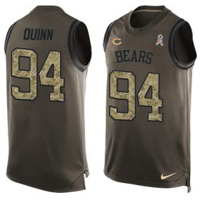 Wholesale Cheap Nike Bears #94 Robert Quinn Green Men\'s Stitched NFL Limited Salute To Service Tank Top Jersey