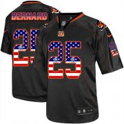 Wholesale Cheap Nike Bengals #25 Giovani Bernard Black Men's Stitched NFL Elite USA Flag Fashion Jersey